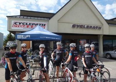 Okanagan wknd stop at Cyclepath